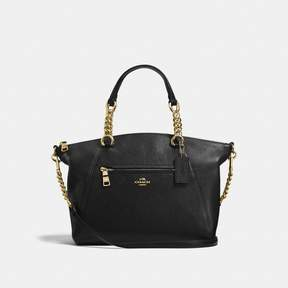 COACH COACH CHAIN PRAIRIE SATCHEL - BLACK/LIGHT GOLD