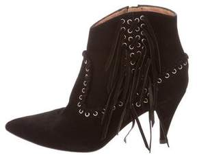 IRO Suede Fringe Ankle Boots