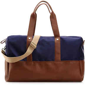 Women's Roadie Weekender Bag -Navy/Cognac