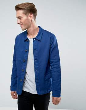 Celio Overshirt Jacket In Blue