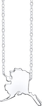 Footnotes Sterling Silver Alaska State Necklace