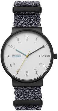Skagen Men's Ancher Gray Nato Nylon Strap Watch 40mm