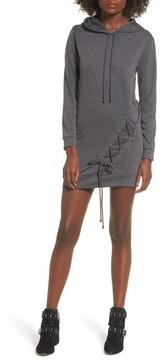 Dee Elly Women's Lace Up Hoodie Dress