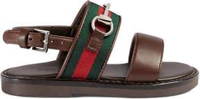 Gucci Toddler Web Horsebit sandal