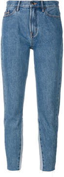 CK Calvin Klein cropped high-rise jeans