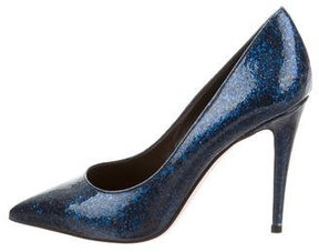 Giamba Pointed-Toe Glitter Pumps w/ Tags