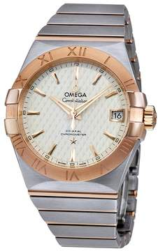 Omega Constellation Co-axial Silver Lozenge Automatic Men's Watch