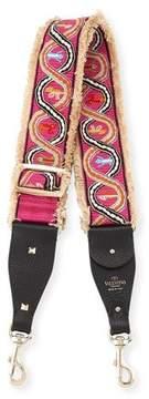 Valentino Rockstud Guitar Shoulder Strap with Embroidered Snakes
