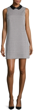 CeCe Women's Brynn Houndstooth Jacquard Shift Dress