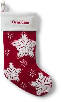 Lands' End Lands'end Felt Star Christmas Stocking