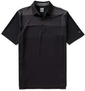 Callaway Opti-Dri Gradient Color Block Short Sleeve Golf Polo Shirt