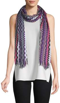 Missoni Women's Multicolored Long Cotton Scarf