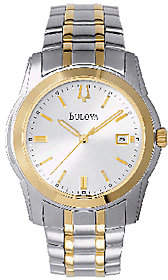Bulova Men's Two-Tone Stainless Steel BraceletWatch