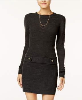 BCX Juniors' Drop-Waist Sweater Dress