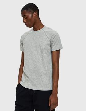 Reigning Champ Mesh Jersey Raglan Tee in Heather Grey