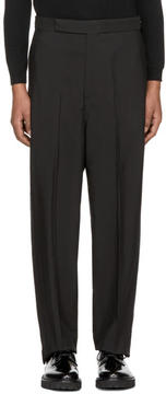 Neil Barrett Black Wide-Leg Trousers