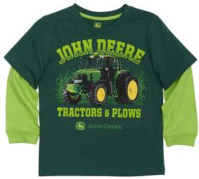 John Deere Boys 4-7x Tractors & Plows Tractor Mock-Layer Tee