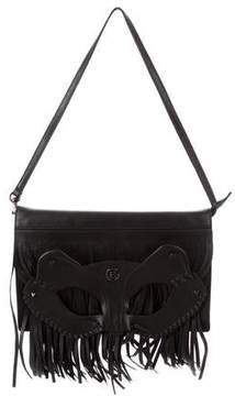 Elena Ghisellini Cat Mask Fringed Bag