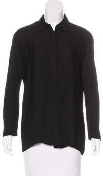 Dries Van Noten Pointed Collar Button-Up Top