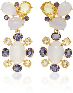 Bounkit Chalcedony and Lemon Quartz Two-Way Earrings