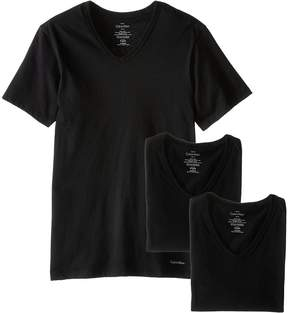 Calvin Klein Underwear Short Sleeve Cotton Classic Slim Fit V-Neck 3-Pack Men's T Shirt