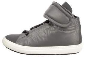 Pierre Hardy Round-Toe High-Top Sneakers