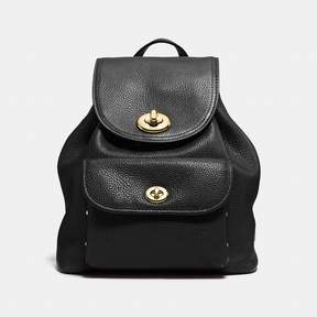 COACH Coach Mini Turnlock Rucksack - BLACK/LIGHT GOLD - STYLE
