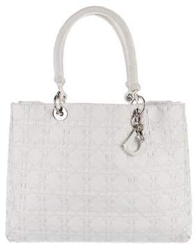 Christian Dior Large Braided Lady Bag