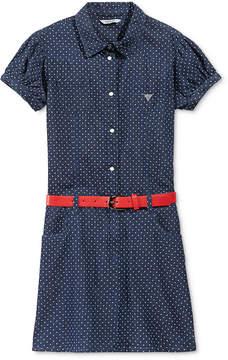 GUESS Polka-Dot Denim Dress, Big Girls (7-16)
