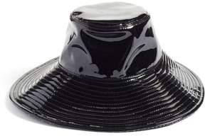 Eric Javits Women's Driptidoo Patent Bucket Rain Hat - Black
