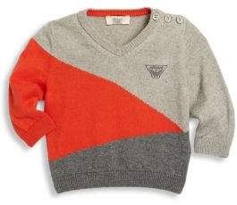 Armani Junior Baby's Colorblock V-Neck Sweater
