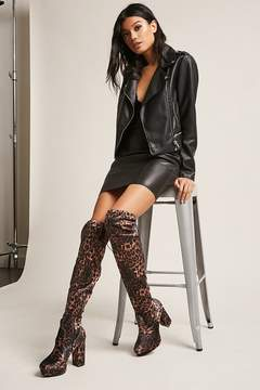 Forever 21 Cheetah Print Over-the-Knee Boots