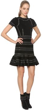 Alexander McQueen Knit & Chenille Dress With Eyelets