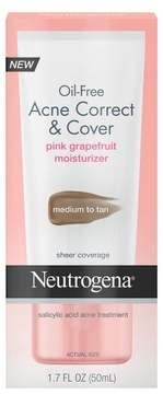Neutrogena Oil Free Acne Moisturizer Correct & Cover Pink Grapefruit Medium to Tan - 1.7 fl oz