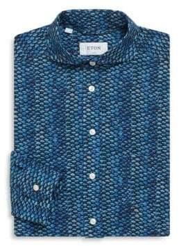 Eton Fish Scale Slim-Fit Cotton Dress Shirt