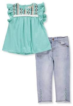 Jessica Simpson Baby Girls' 2-Piece Outfit - mint, 12 months