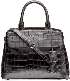 DKNY Paige Croc Embossed Satchel