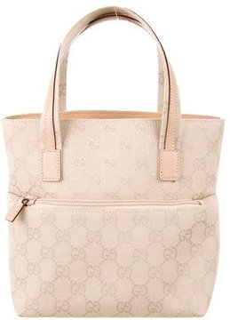 Gucci GG Canvas Handle Bag - NEUTRALS - STYLE