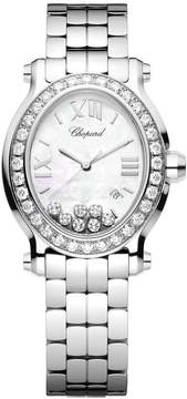 Chopard Happy Sport Diamond Mother of Pearl Dial Stainless Steel Ladies Watch 278546-3004