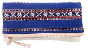 Clare Vivier Canvas Fold-Over Clutch
