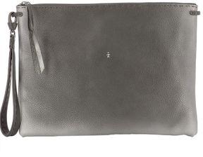 Grey Leather Pochette