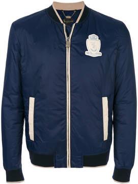 Billionaire chest patch bomber jacket