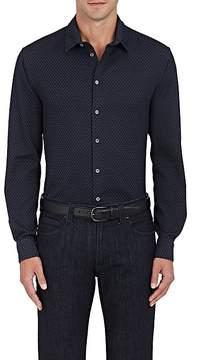 Giorgio Armani Men's Triangle-Pattern Cotton Shirt