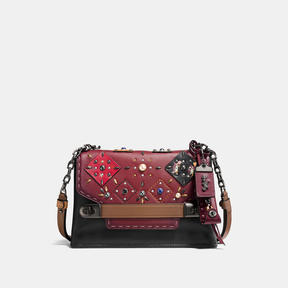 COACH Coach Swagger Chain Crossbody With Patchwork Prairie Rivets - BLACK COPPER/BORDEAUX MULTI - STYLE