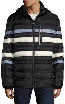 Bogner Men's Flynn-D Striped Regular Fit Jacket