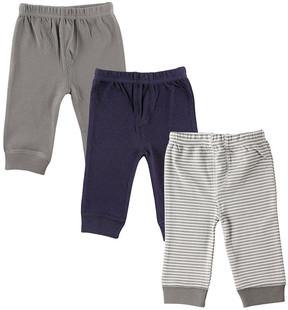 Luvable Friends Navy & Blue Sweatpants Set - Infant & Toddler