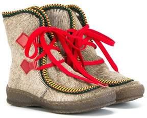 Pépé pony fur trimmed boots