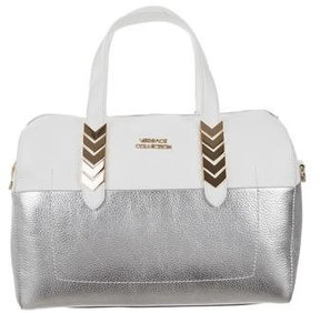 Versace Leather Bicolor Satchel
