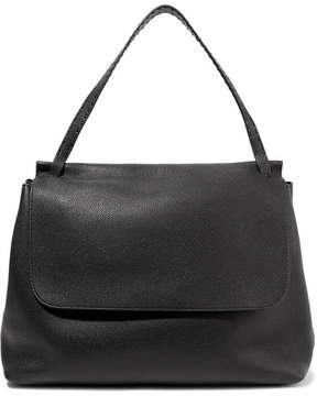 The Row Textured-leather Tote - Black