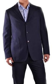 Piombo Men's Blue Cotton Blazer.